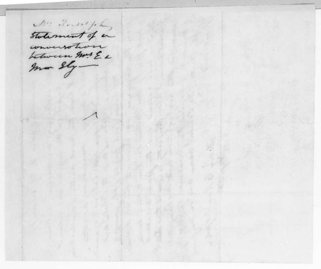 Mary B. O'Neale Randolph to Andrew Jackson, September 25, 1829