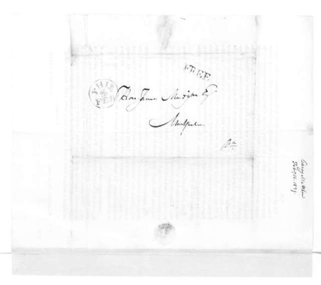 Mathew Carey to James Madison, February 16, 1829. With Circular dated February 9, 1829.