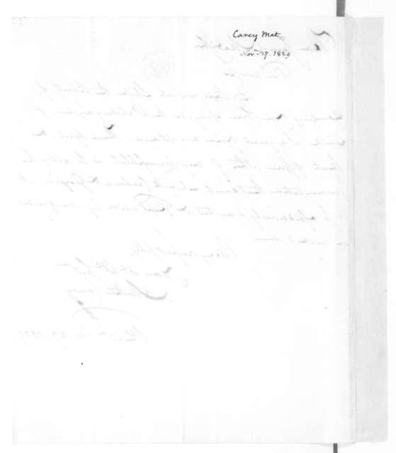 Mathew Carey to James Madison, November 27, 1829.