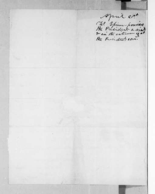Peter W. Spicer to Andrew Jackson, April 19, 1829