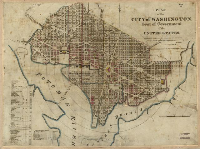 Plan of the city of Washington : seat of government of the United States /
