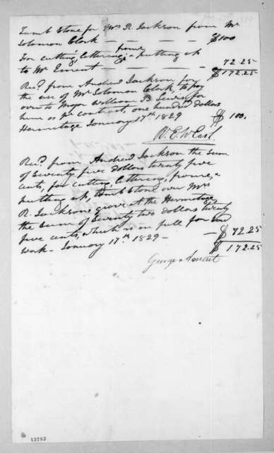 Ralph Eleazar Whitesides Earl and George Ament to Andrew Jackson, January 17, 1829