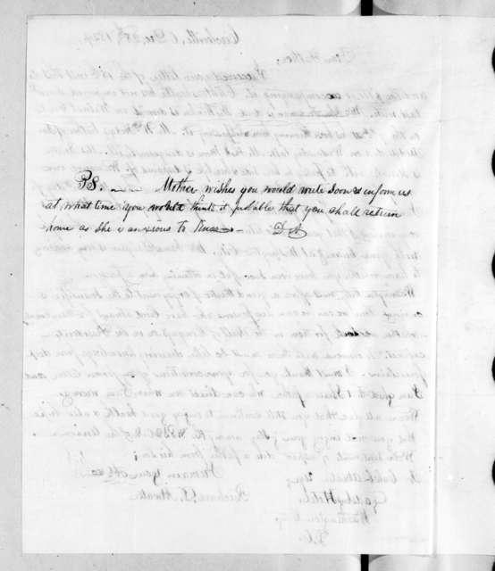 Richard D. Atwater to Caleb Atwater, December 28, 1829