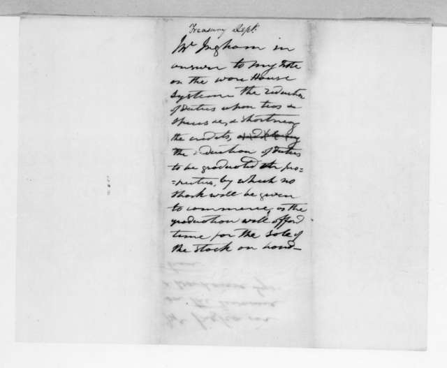 Samuel Delucenna Ingham to Andrew Jackson, October 10, 1829