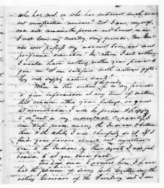 Samuel Houston to Andrew Jackson, May 11, 1829