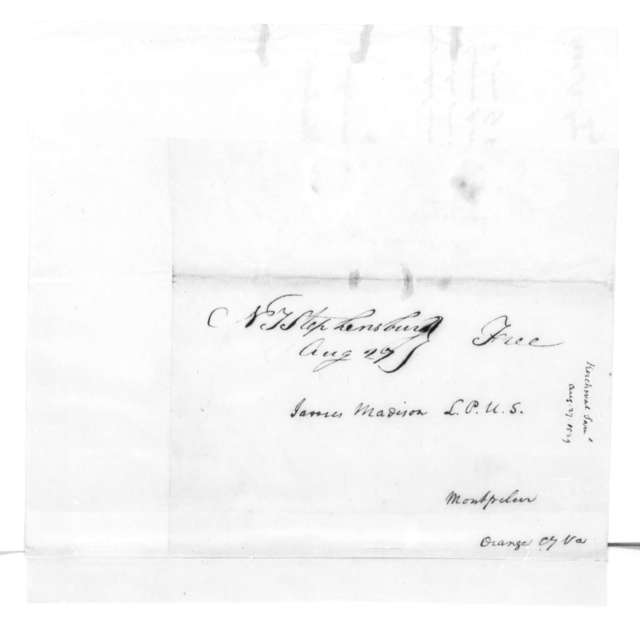 Samuel Kercheval to James Madison, August 27, 1829.