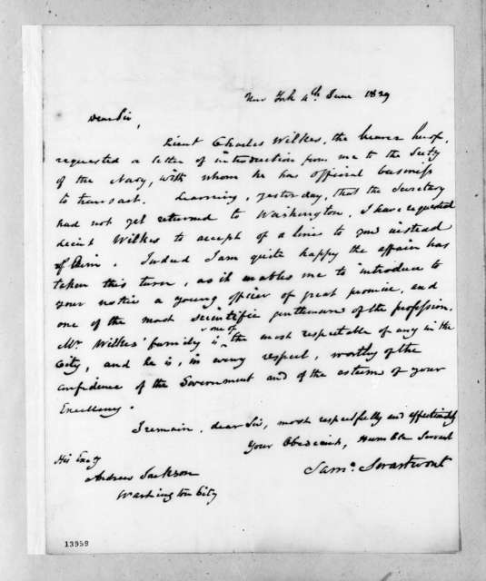 Samuel Swartwout to Andrew Jackson, June 4, 1829