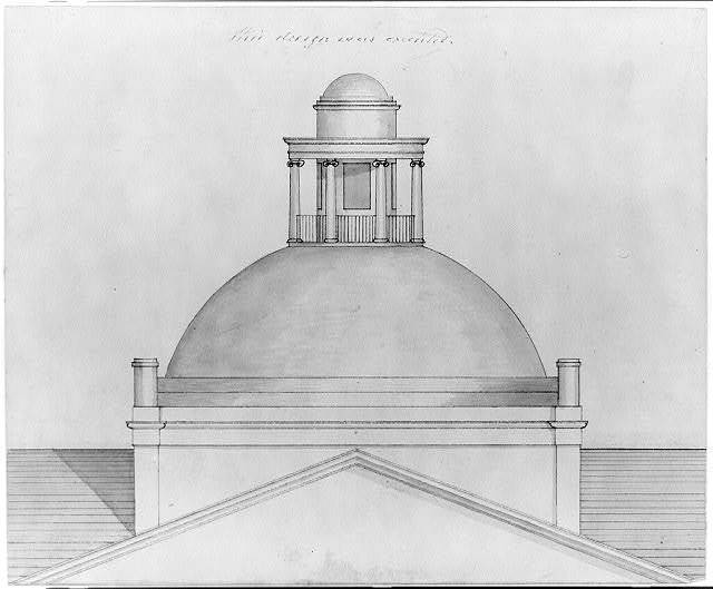 """[State capitol building (""""Maine State House""""), Augusta, Maine. Plan of octagonal drum]"""
