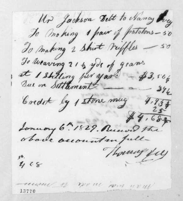 Thomas Ivey to Andrew Jackson, January 6, 1829