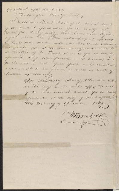 Verlinda Smith to George Poe, [Law papers].
