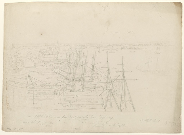 View of Philadelphia as seen from top of Great Ship House, Augt. 1829 / Smith, John R.