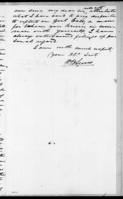 William Berkeley Lewis to Andrew Jackson, July 2, 1829