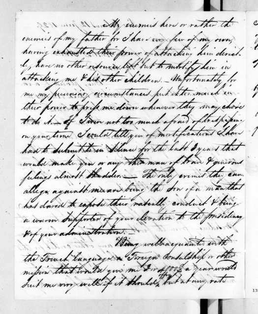 William McFarland Saul to Andrew Jackson, June 12, 1829