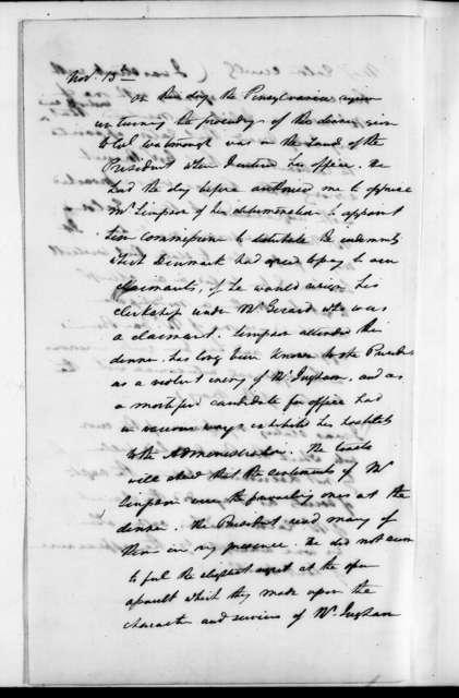 Andrew Jackson Donelson, November 10, 1830