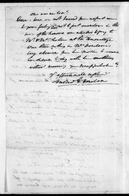 Andrew Jackson Donelson to Andrew Jackson, October 30, 1830
