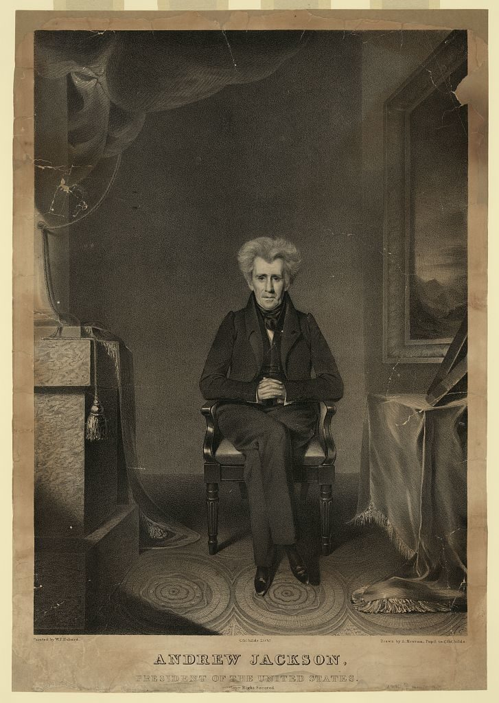 Andrew Jackson, president of the United States / painted by W.J. Hubard ; C.G. Childs Lithr.; drawn by A. Newsam, pupil to C.G. Childs.
