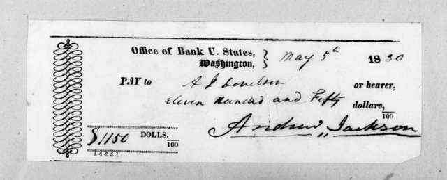 Andrew Jackson to Andrew Jackson Donelson, May 5, 1830