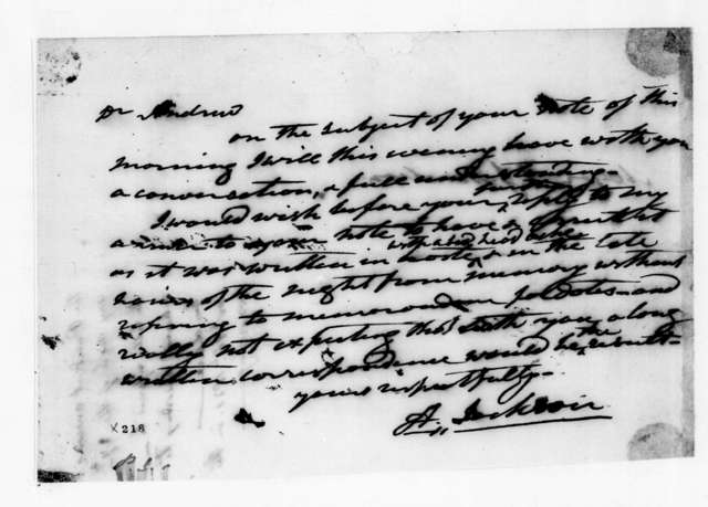 Andrew Jackson to Andrew Jackson Donelson, October 27, 1830