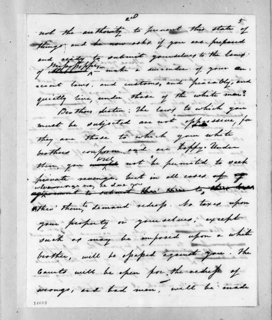 Andrew Jackson to Chickasaw Chiefs, August 23, 1830