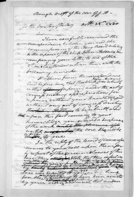 Andrew Jackson to John Branch, October 28, 1830