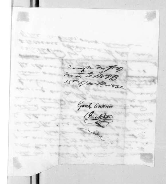 Andrew Jackson to Martin Van Buren, October 15, 1830