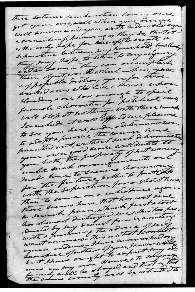 Andrew Jackson to Mary Eastin, October 24, 1830