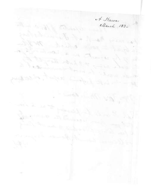 Aylett Hawes to James Madison, March, 1830.