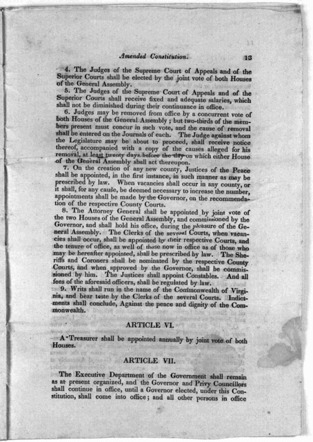 Bill of rights. A declaration of rights made by the representatives of the good people of Virginia, assembled in full and free convention; which rights do pertain to them, and their posterity, as the basis and foundation of government. Unanimous