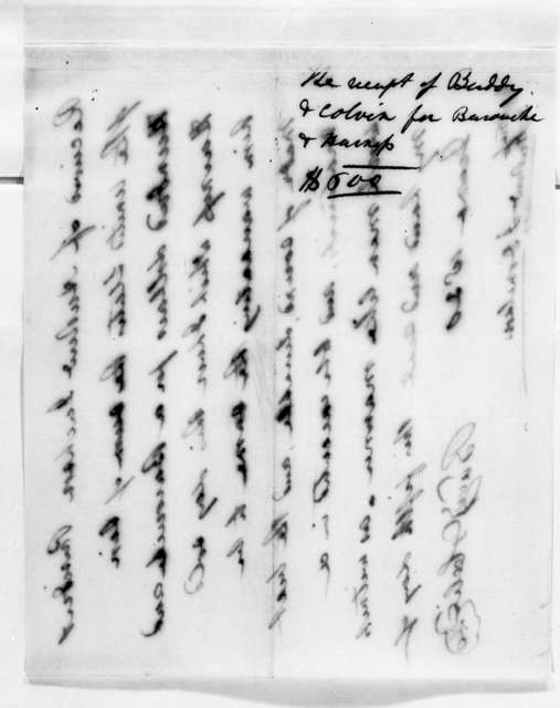 Buddy & Colvin to Andrew Jackson, June 5, 1830