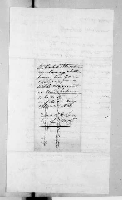 Caleb Atwater to Andrew Jackson, January 13, 1830