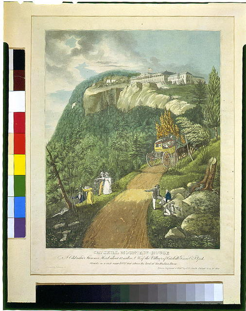 Catskill Mountain-House--A celebrated summer hotel about 12 miles S.W. of the village of Catskill Greene Co., N. York ... / drawn, engraved & publ. by J.R. Smith, Philada. June 21, 1830.