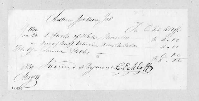 Christian Eckloff to Andrew Jackson, Jr., May 18, 1830