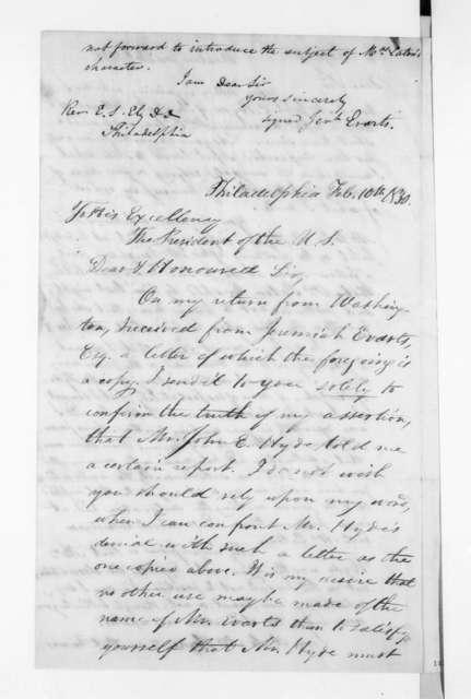 Ezra Stiles Ely to Andrew Jackson, February 10, 1830