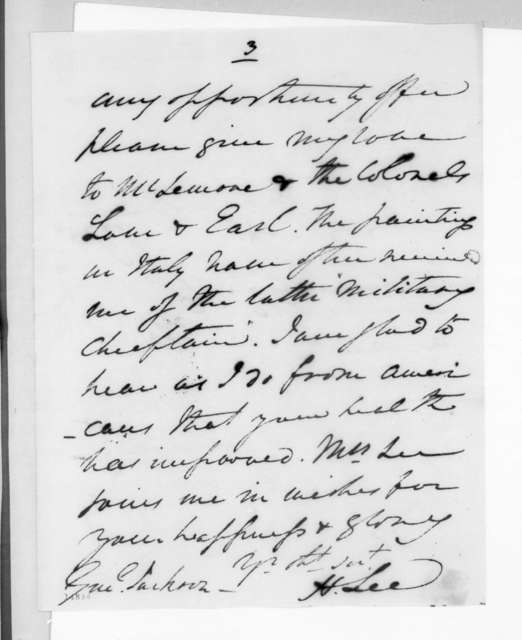 Henry Lee to Andrew Jackson, December 16, 1830