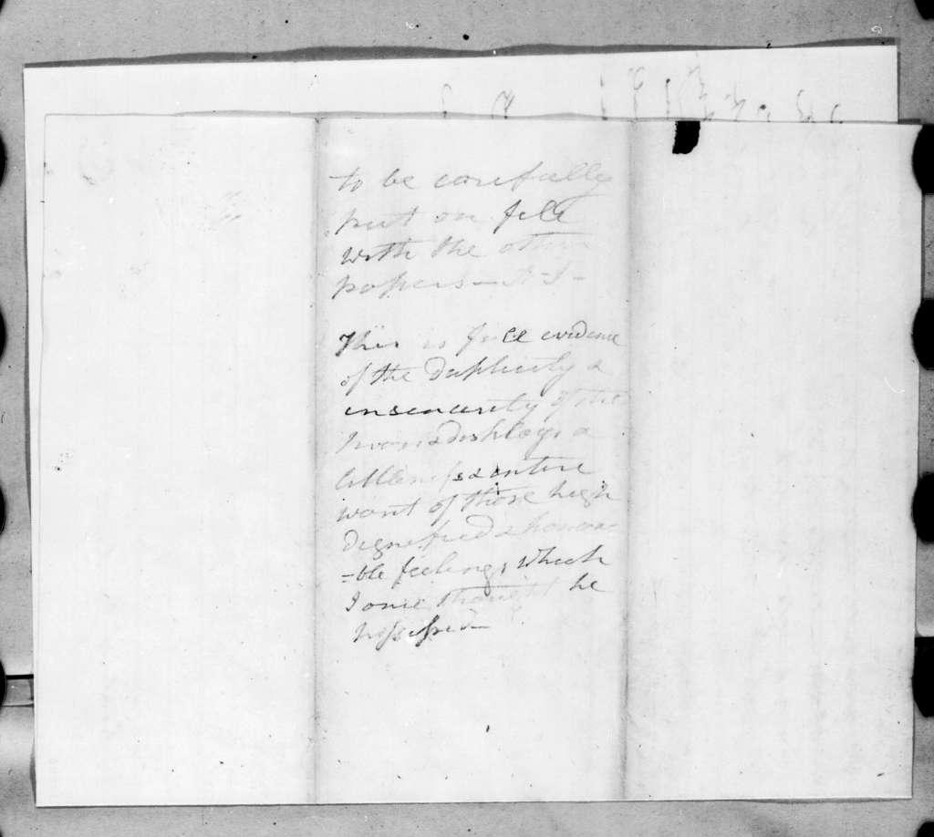 John Caldwell Calhoun to Andrew Jackson, August 25, 1830