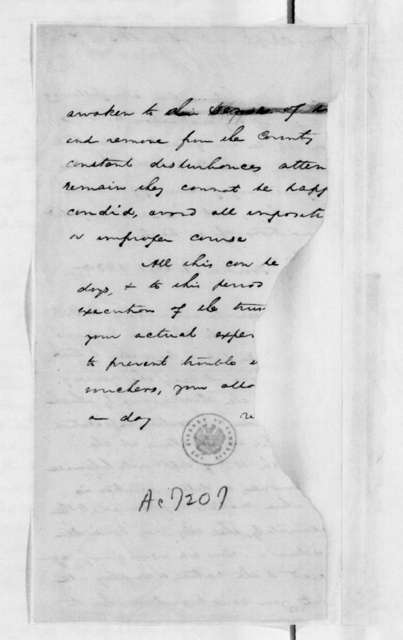 John Henry Eaton to Unknown, November 15, 1830