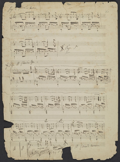 [Liszt's corrections to his transcription for piano of Schubert's song Gretchen am Spinnrade