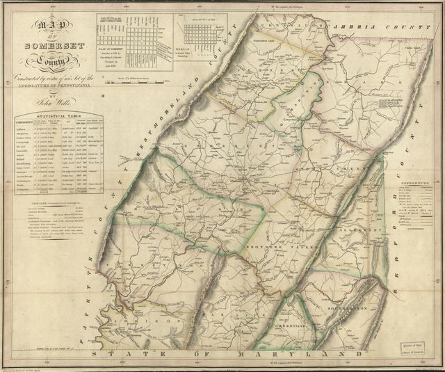 Map of Somerset County /