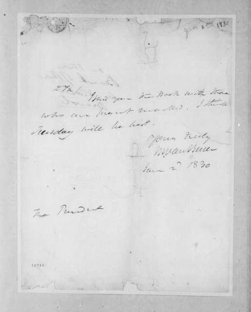 Martin Van Buren to Andrew Jackson, January 2, 1830