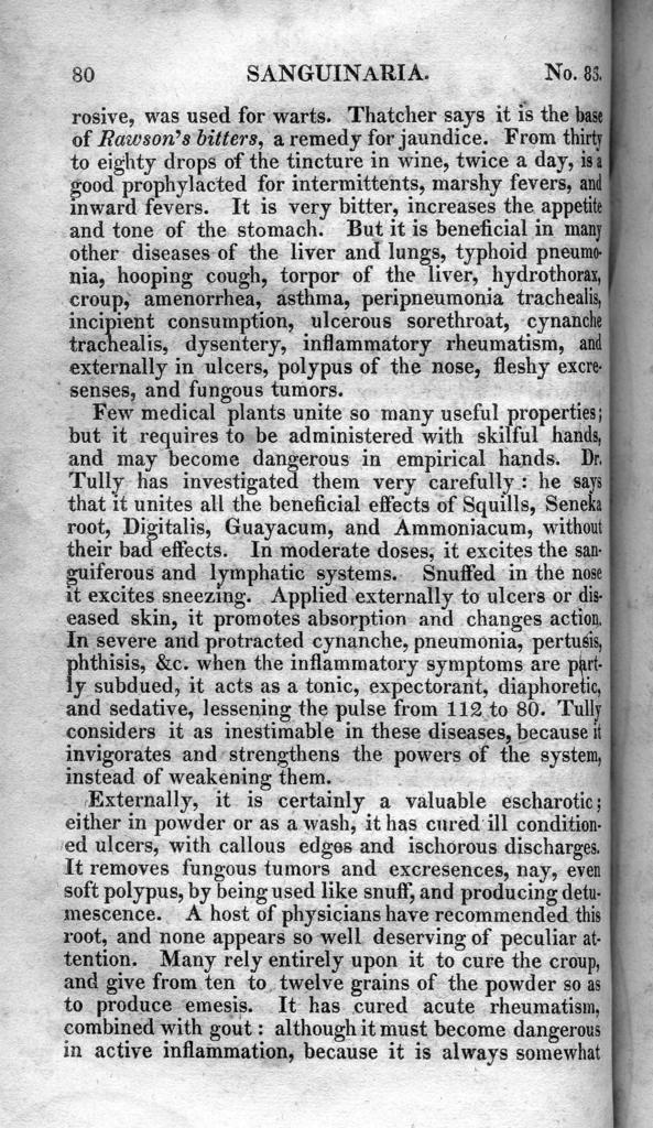 Medical flora, or, Manual of the medical botany of the United  States of North America. Containing a selection of above 100 figures and descriptions of medical plants, with their names, qualities, properties, history, &c.: and notes or remarks on nearly 500 equivalent substitutes, volume 2