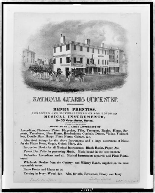 National guards quick step / T. Moore's lithogy., Boston.