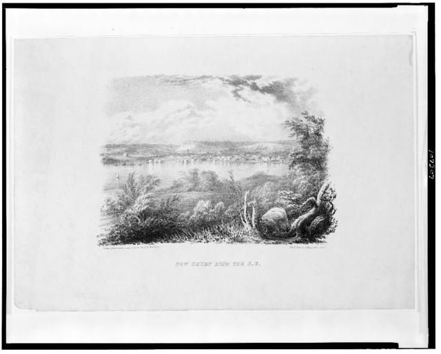 New Haven from the S.E. / Drawn from nature, and on stone by T.K. Wharton.