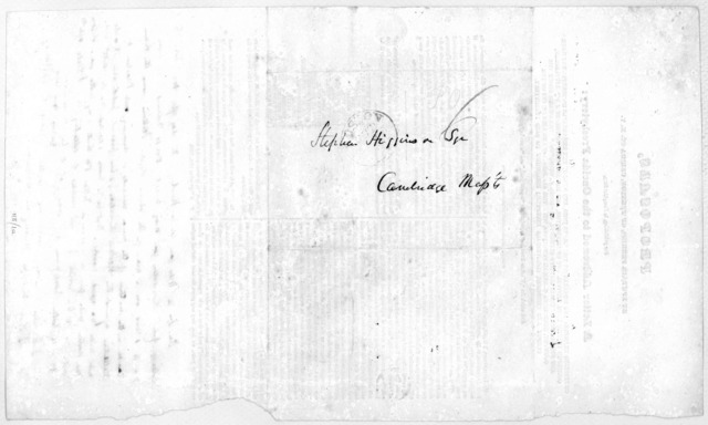 Proposals, by Ephraim Perkins, of Treton, Oneida Co. N. Y. for publishing in pamphlet form, a letter addressed to the Oneida Presbytery ... Dated September 13th, 1830.