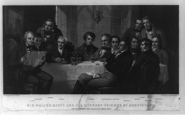 Sir Walter Scott and his literary friends at Abbotsford / painted by Thos. Faed ; engd. by J. Sartain, Phila.