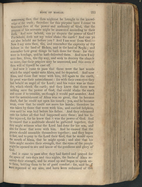 The Book of Mormon; an account written by the hand of Mormon upon plates taken from the plates of Nephi. By Joseph Smith, Junior.