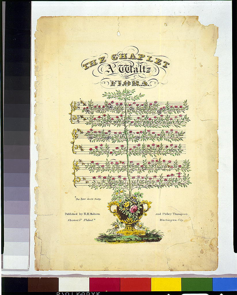 The chaplet, a waltz by Flora / Kennedy & Lucas lithography, Philada.