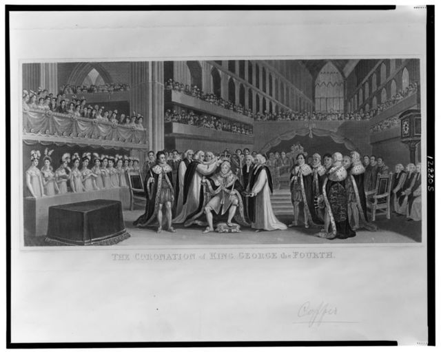 The coronation of King George the fourth / engraved by J. Chapman from a painting by J. Fussell.
