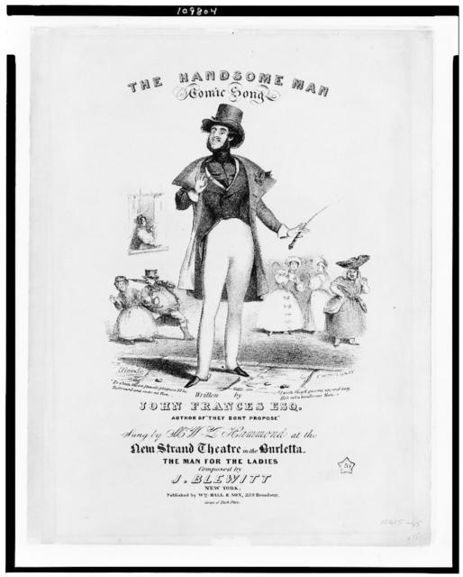The handsome man / E. B... ; N. Currier's lith., N.Y.