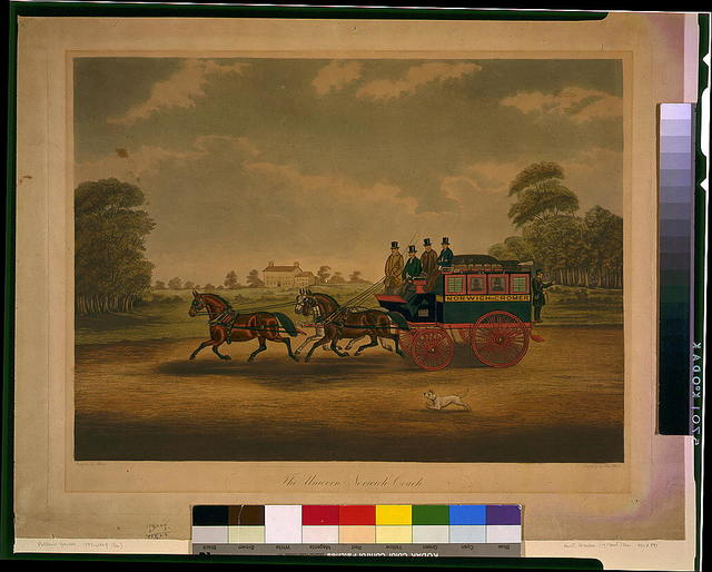 The Unicorn Norwich coach / painted by Jas. Pollard ; engraved by Chas. Hunt.