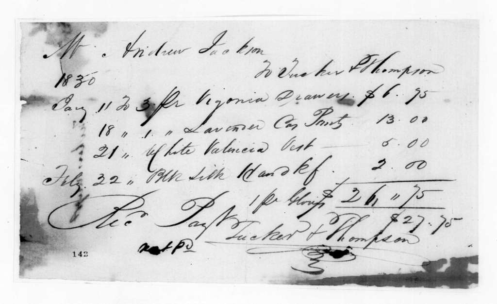 Tucker & Thompson to Andrew Jackson, February 22, 1830